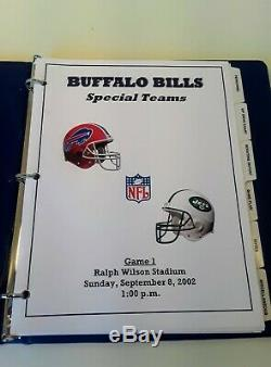 Collectable Buffalo Bills Issued Player Game Book With New York Jets Very Rare