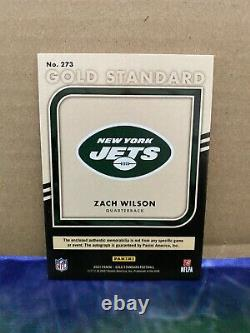 Gold Standard Zach Wilson Rpa Auto /49 Invest Jets RC Rookie Patch