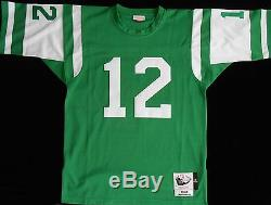 Hand Painted New York Jets Joe Namath on 1968 Throwback Jersey