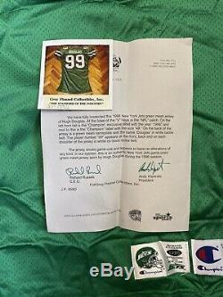 Hugh Douglas NY Jets New York Game Worn Jersey Game Used