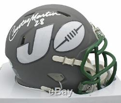 Jets Curtis Martin Authentic Signed Amp Speed Mini Helmet BAS Witnessed