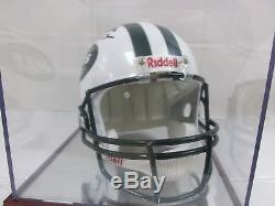 Joe Namath Autographed/Signed New York Jets Replica Helmet With Case and COA