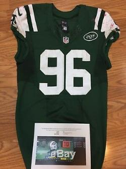 Muhammad Wilkerson New York Jets Game Used Jersey Unwashed PSA NFL COA 11/27/16