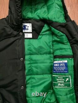 NWOT NEW YORK JETS STARTER hooded Jacket size medium Packer shoes exclusive
