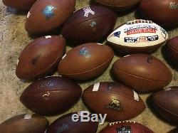 New York Jets 2015-2017 NFL Practice Used Wilson Football Game Used