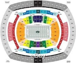 New York Jets vs Indianapolis Colts 10/14 2 Seats Section103 Row 2 Field Level