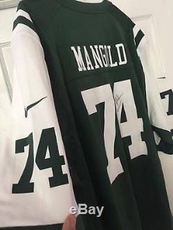Nick Mangold Authentic Autographed Nike Mens New York Jets On Field Jersey XXL