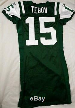 Official Game Issued Tim Tebow #15 New York Jets NFL Authentic Reebok Jersey 42