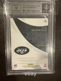 SAM DARNOLD 2018 IMMACULATE COLLECTION RC AUTOGRAPH RC Patch Auto BGS 9/10 #/99