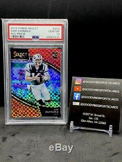 SAM DARNOLD 2018 Select FIELD LEVEL RED PRIZM /49 Rookie Card RC PSA 10 POP 5
