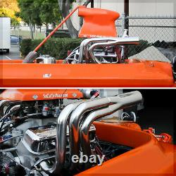SS Exhaust Header Manifold for Big Block Chevy BBC Non-Water Injection Jet Boat
