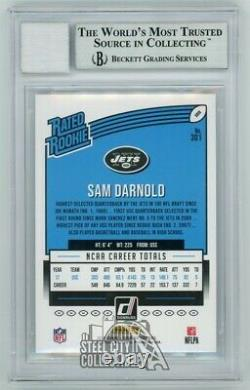 Sam Darnold 2018 Donruss Rated Rookie Autograph RC Rookie Card #301 BAS 10