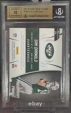 Sam Darnold 2018 Panini Certified Auto Patch Rookie Card #d/99 Bgs 9.5/10