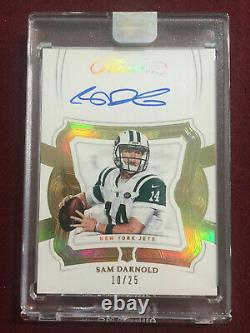 Sam Darnold 2018 Panini Flawless Gold Auto Rookie Card RC 10/25 New York Jets
