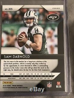 Sam Darnold 2018 Panini Prizm Silver Refractor Rookie SP Holo New York Jets #203
