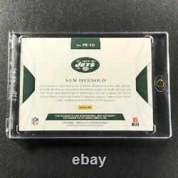 Sam Darnold 2019 Panini Immaculate Fotl Premium Patch Auto Rookie Rc #d /12 Jets