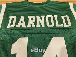 Sam Darnold Autographed New York Jets Custom Green Jersey Witness Beckett