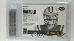 Sam Darnold Rookie Auto BGS 9 MINT 10 Auto Encased New York Jets 10/25