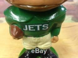 Vintage 1960's CUSTOMIZED NEW YORK JETS NODDER BOBBLEHEAD-RESTORED AWESOME