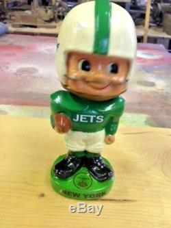 Vintage 1960's CUSTOMIZED NEW YORK JETS NODDER BOBBLEHEAD-RESTORED with FLAWS