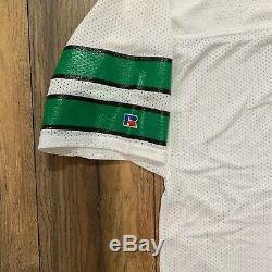 Vintage New York Jets Boomer Esiason 75th Anniversay Patch Russell Jersey Sz 48