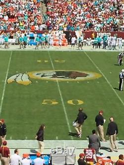 WASHINGTON REDSKINS NEW YORK JETS TICKETS AUG16 50 YDLN LOWERS With PLATINUM PARK