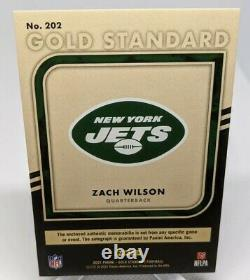 Zach Wilson 2021 Panini Gold Standard Rookie Rc RPA Patch Auto /49 Ny Jets
